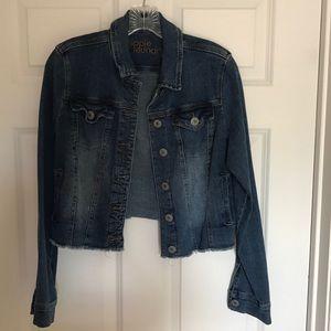 Hippie Laundry distressed crop jean jacket